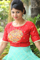 Lucky Shree Looks super cute in Bright Red Green Anarkali Dress ~  Exclusive 044.JPG