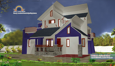 Home plan and elevation 1250 Sq. Ft