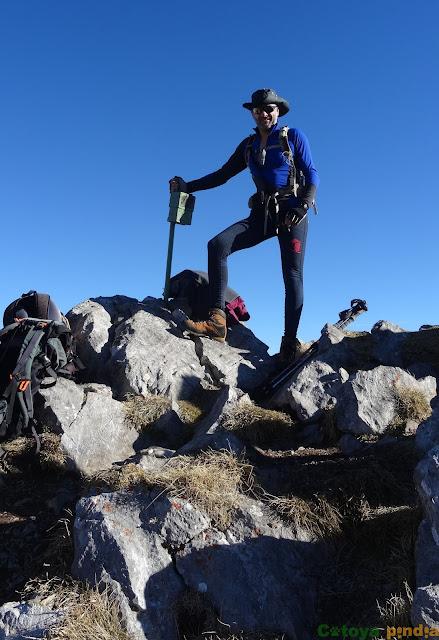 En la cima de Peña Cerreos
