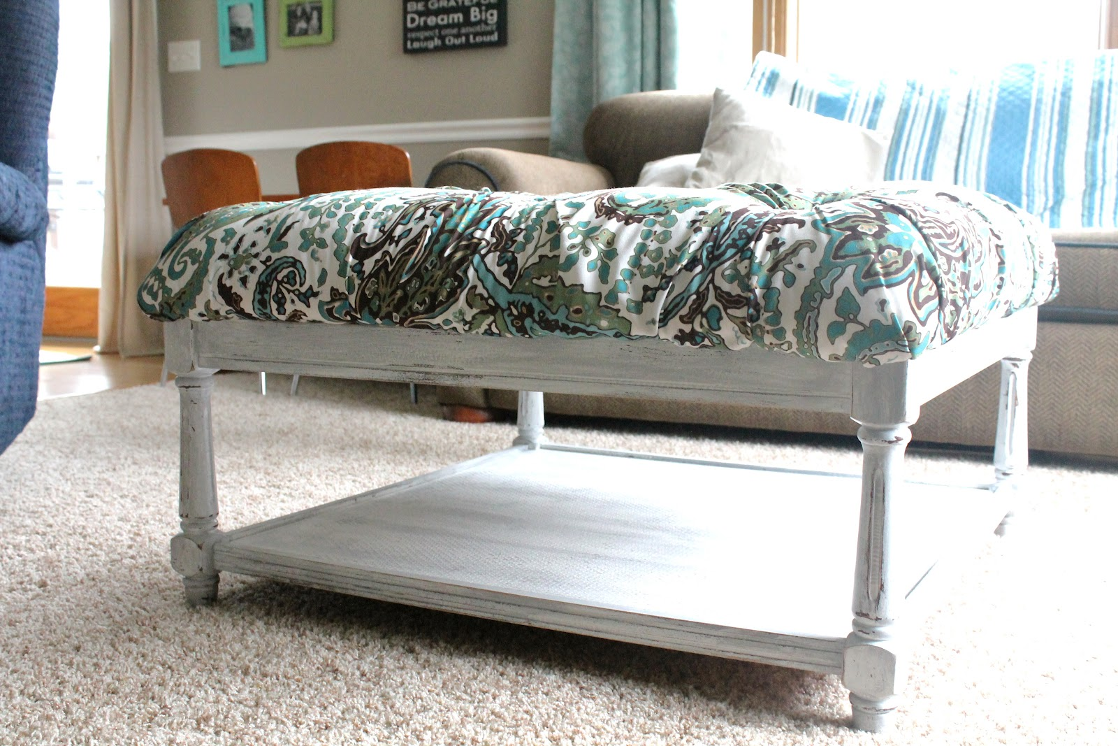 View From My Front Porch: DIY Coffee Table Ottoman