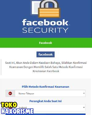 Web Phising Facebook Security