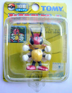 Ledian Pokemon figure Tomy Monster Collection yellow package series