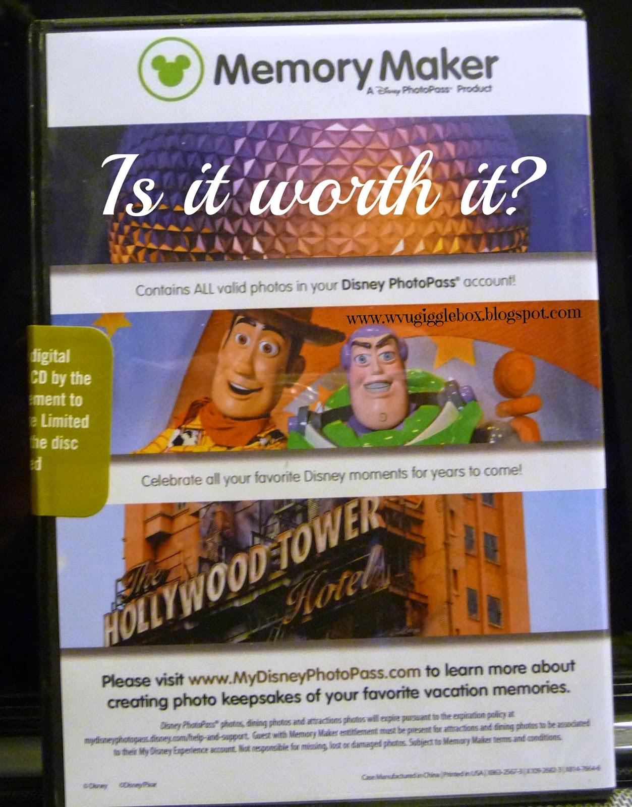 Walt Disney World, Memory Maker, Disney vacation, making memories,