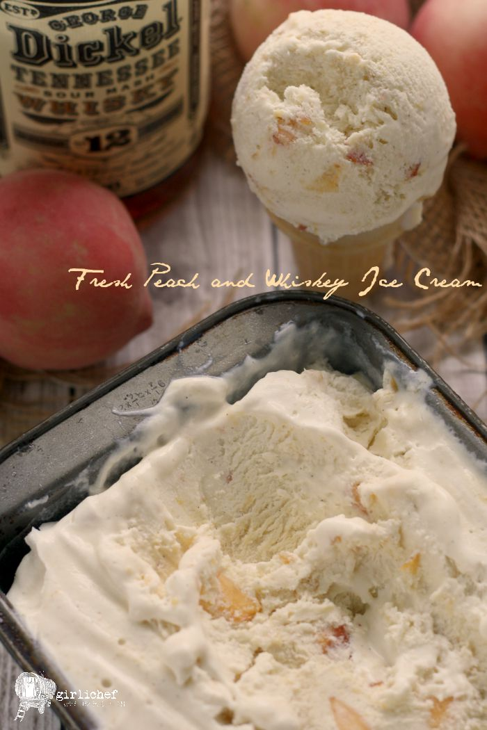 Fresh Peach and Whiskey Ice Cream