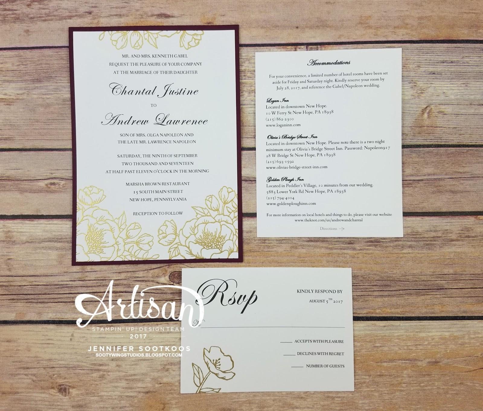 Sootywing Studios: Wedding Invitations