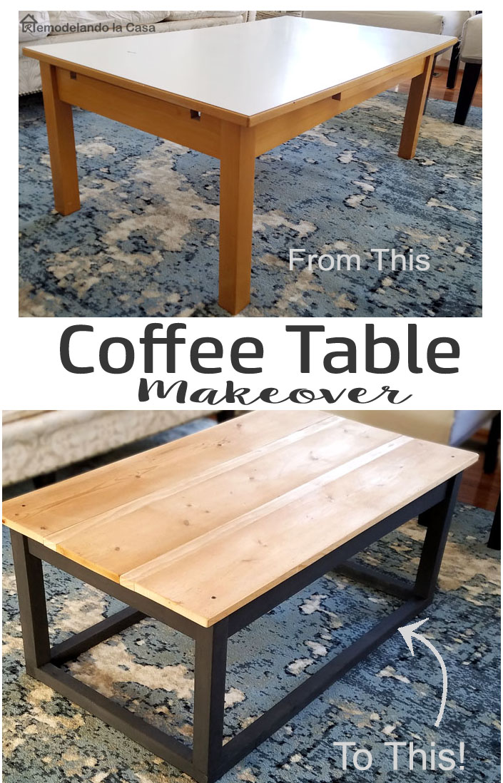 farmhouse style coffee table makeover remodelando la casa. Black Bedroom Furniture Sets. Home Design Ideas