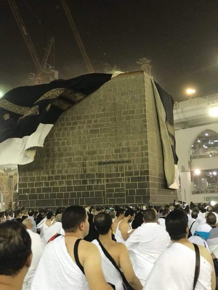 Jelang Wukuf, Angin Kencang dan Hujan Deras Melanda Arafah