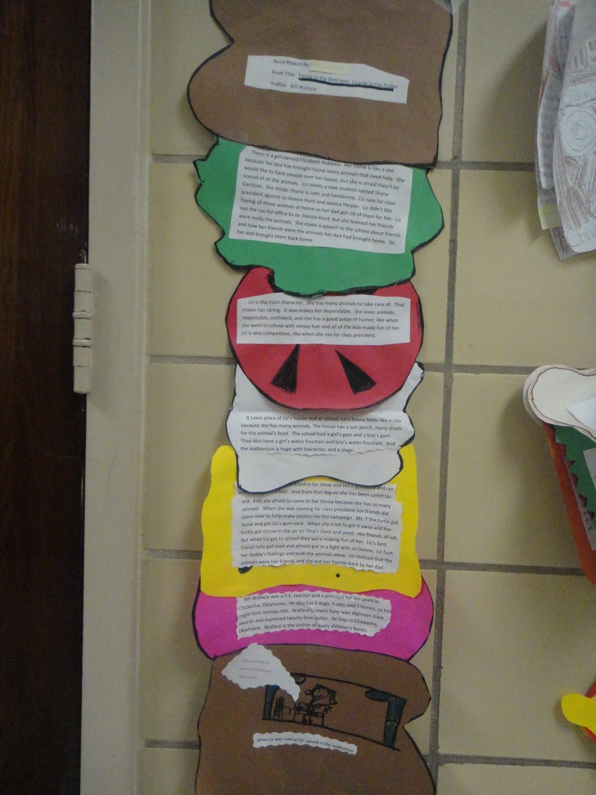 Katie S Klassroom Sandwich Book Report 4th