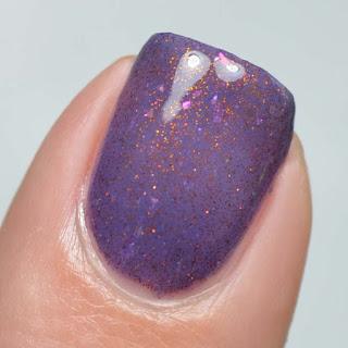 eggplant to mauve thermal nail polish