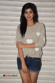 Actress Model Shamili (Varshini Sounderajan) Stills in Denim Shorts at Swachh Hyderabad Cricket Press Meet  0006.JPG