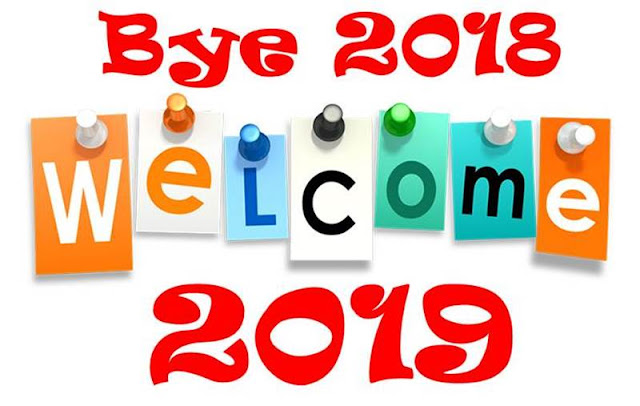 Good Bye 2018 Welcome 2019 Messages