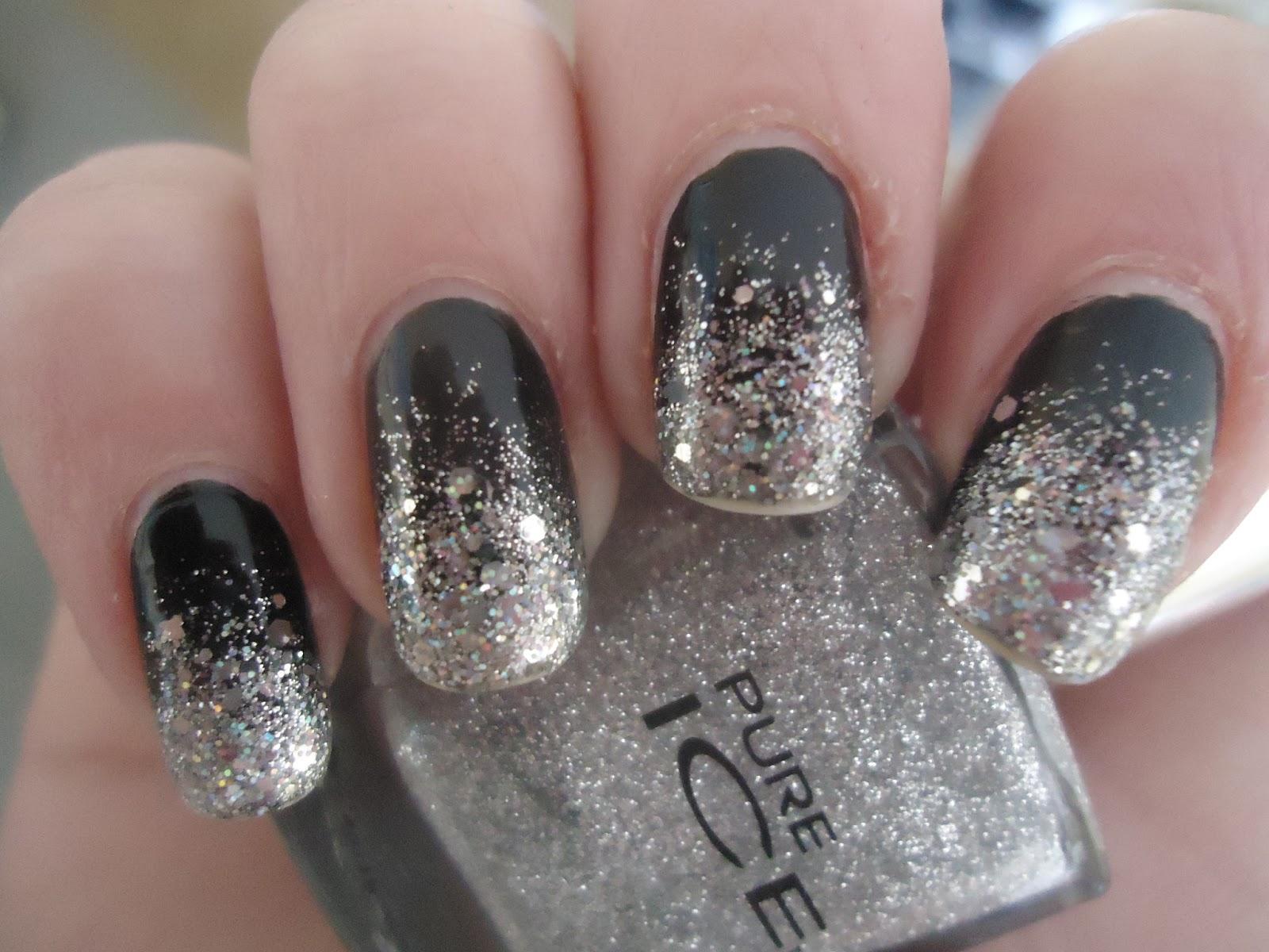 Silver Glitter Nails | Car Interior Design