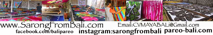 Sarongs from Bali Pareo Wholesale Batik Factory Bali