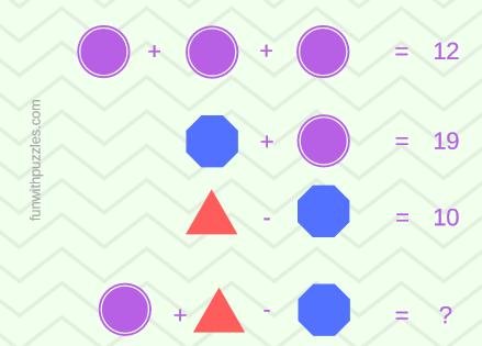 Mathematics Equations Riddle-Shapes