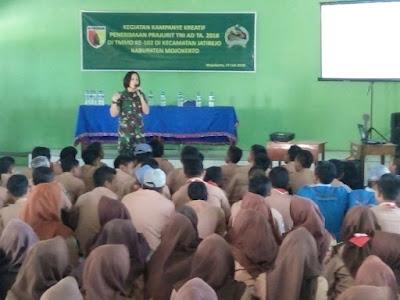 TMMD, Ajenrem 082 Sosialisasikan Rekrutmen TNI AD