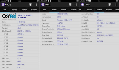 OPPO F1 Plus CPU-Z Info