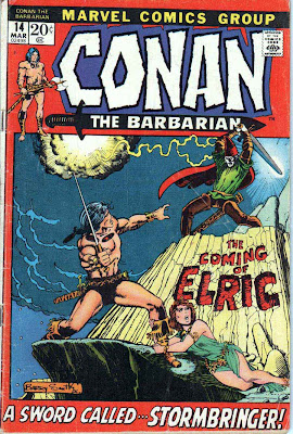 Conan the Barbarian v1 #14 marvel comic book cover art by Barry Windsor Smith