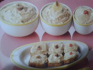 Pasta-crema fría para aperitivos