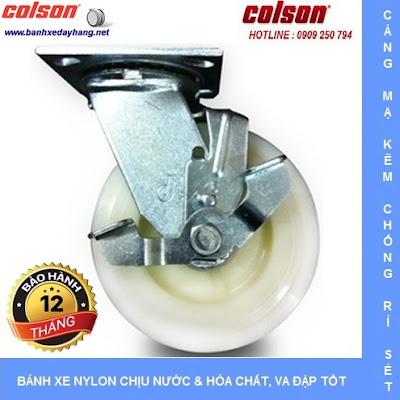 Bánh xe đẩy thủy sản SP Caster Colson Mỹ tại Vĩnh Long www.banhxedayhang.net