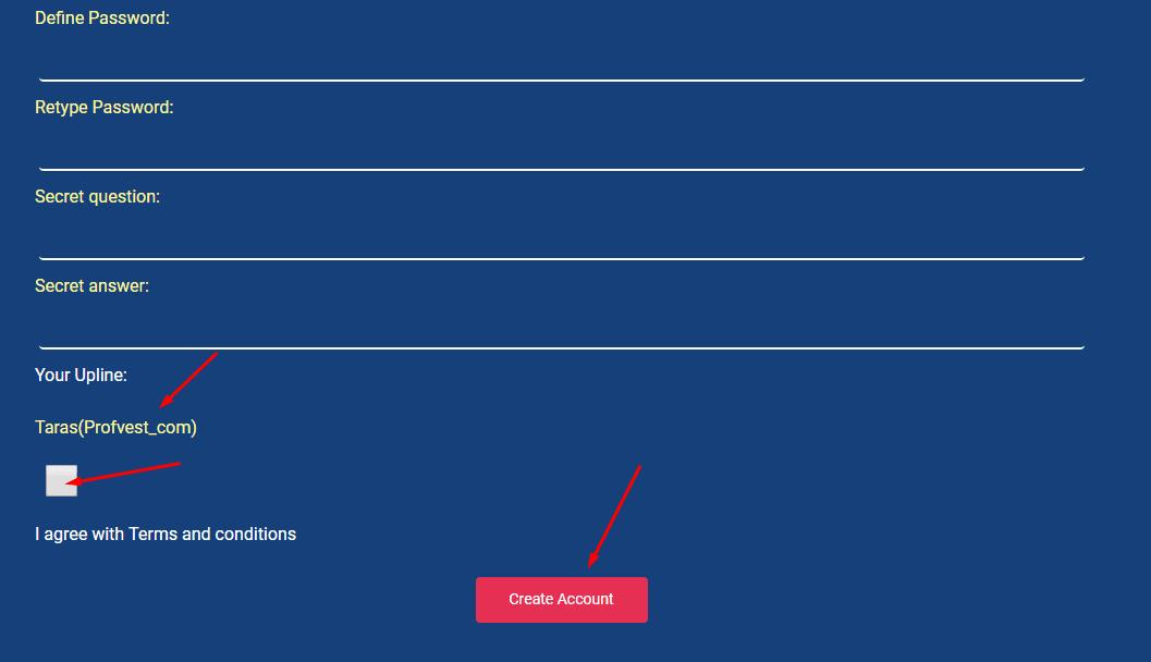 Регистрация в Fastrmo 2