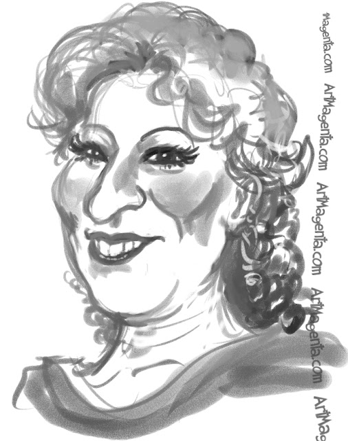Bette Midler is a caricature by Artmagenta