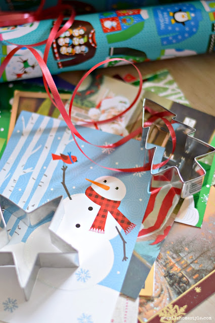 DIY your own holiday gift tags from old Christmas cards.