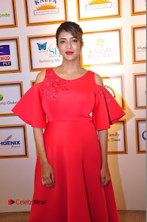 Actress Manchu Lakshmi Pictures in Red Long Dress .COM 0094.JPG