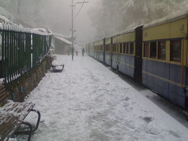 Kalka Shimla Railway in Winter