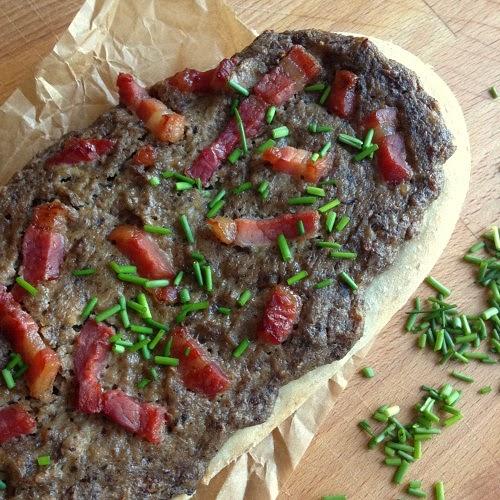 Champignon-Rahm-Fladen mit Bacon
