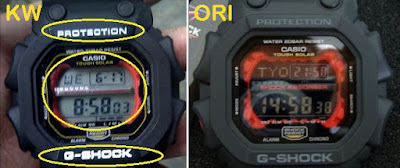 Perbedaan Jam Tangan G Shock Asli Dan Palsu Tips Membedakan