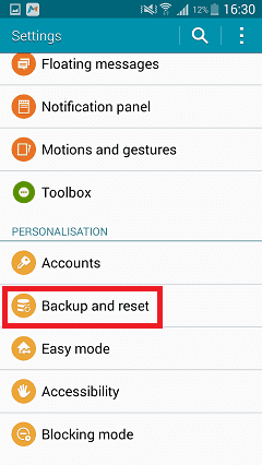 Open your device's Settings.