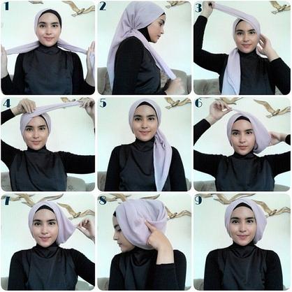 Tutorial Hijab Modern Turban Terbaru 2016