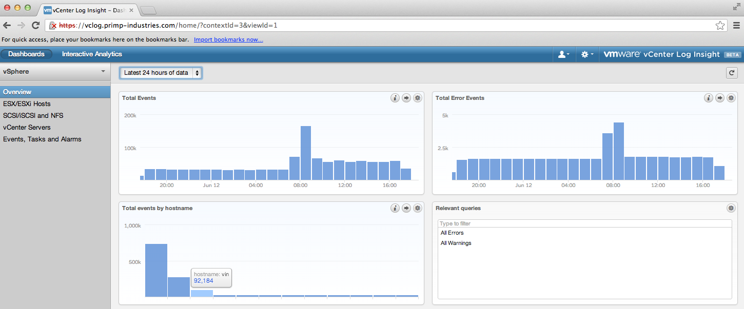 Forwarding Logs From The vCloud Suite To vCenter Log Insight
