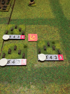 German tanks run over the objective!