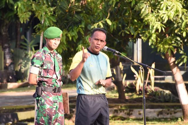 Usai Apel Pagi, Personel Makorem dan Balakrem Laksanakan Senam Barbel, Ini Tujuannya