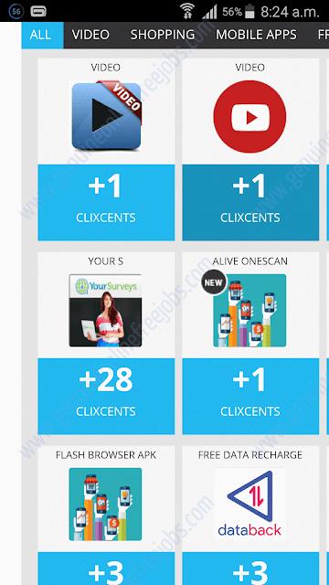 Clixsense mobile offers