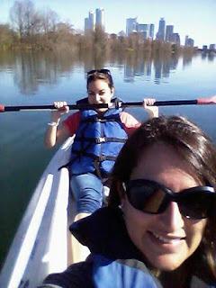 Kayaking down the Colorado River
