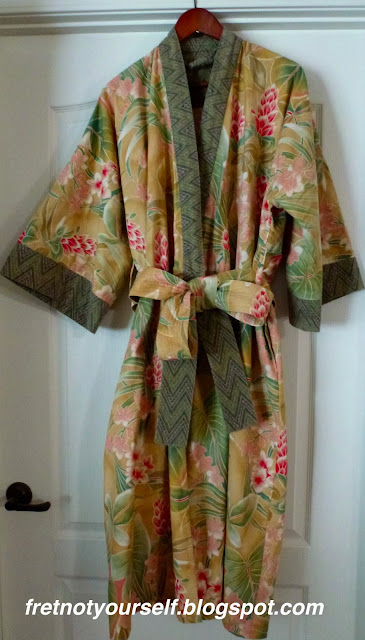 Modern Robe pattern in Alexander Henry fabric