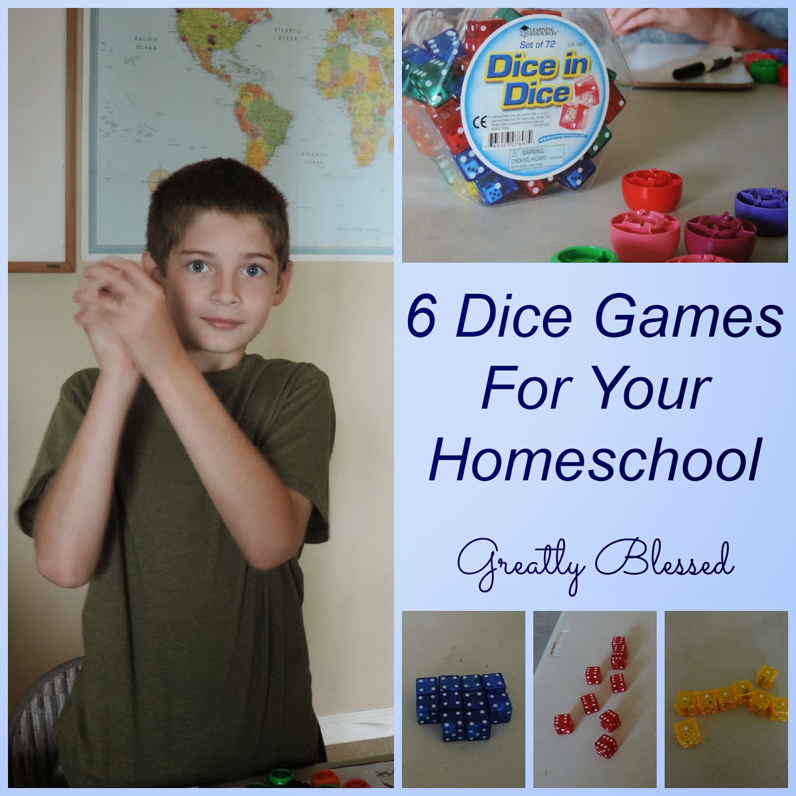 Greatly Blessed 6 Dice Games For Your Homeschool