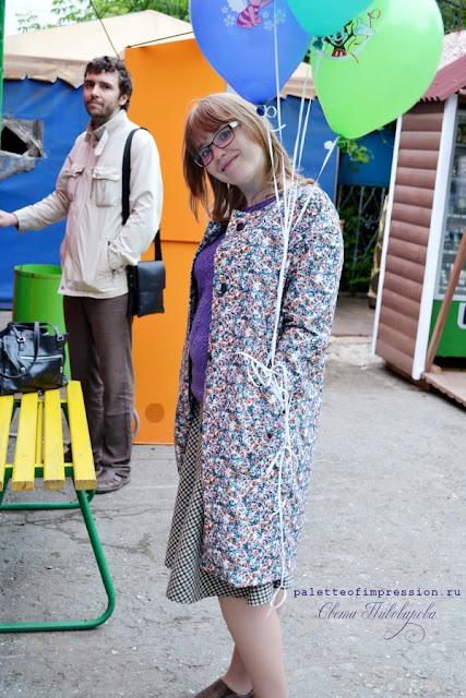 Летнее хлопковое пальто. Какая красивая мама. Пальто по выкройкам Grasser Блог Вся палитра впечатлений Palette of impression blog