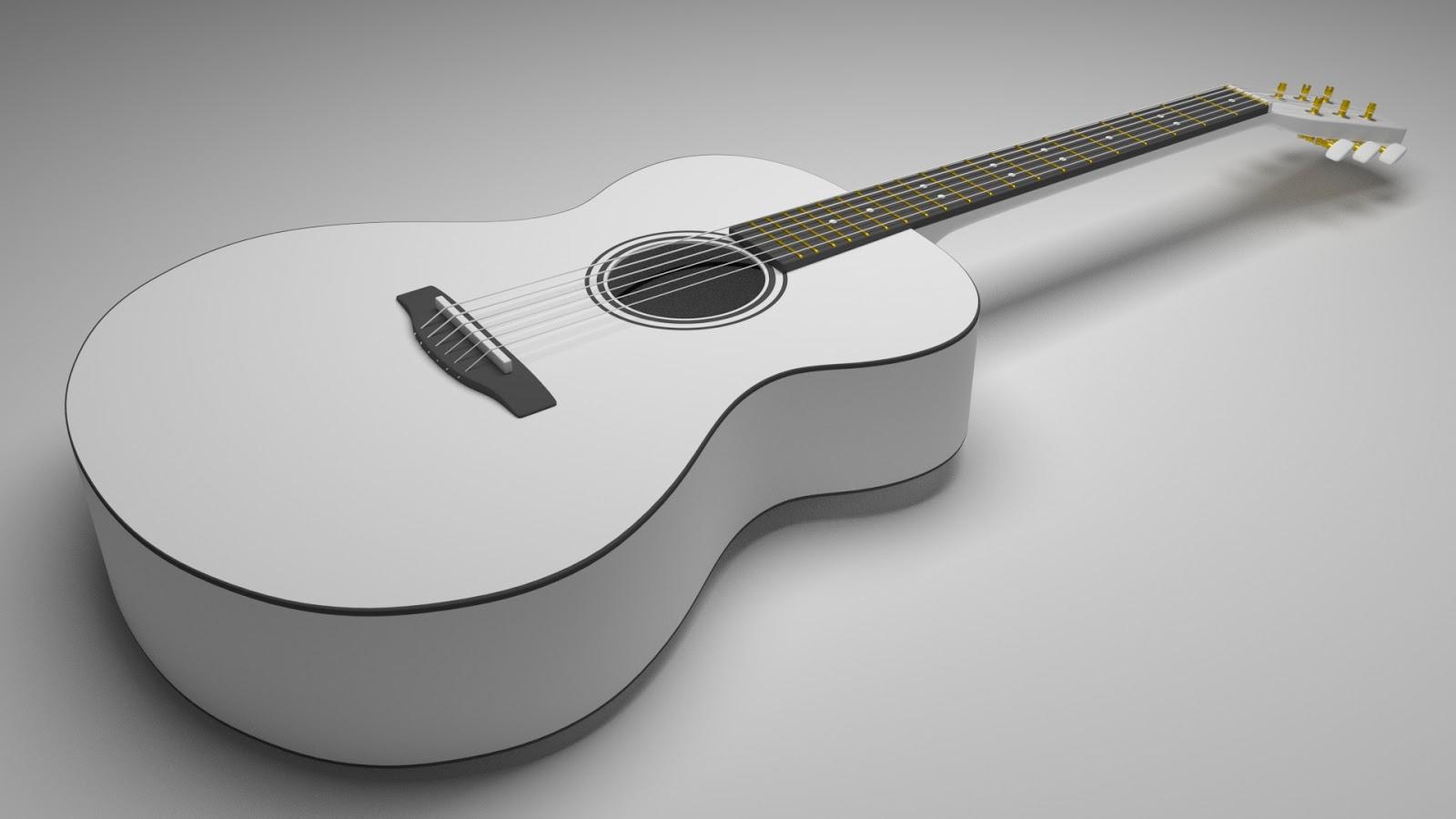 Free 3D Acoustic Guitar .blend file