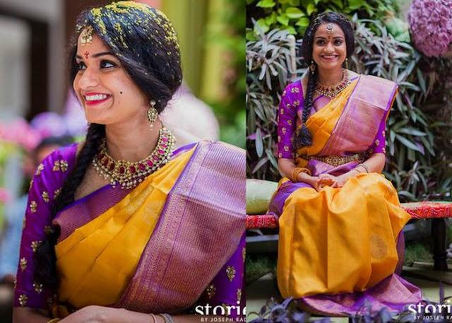 Priyanka Dutta Yellow Silk Saree