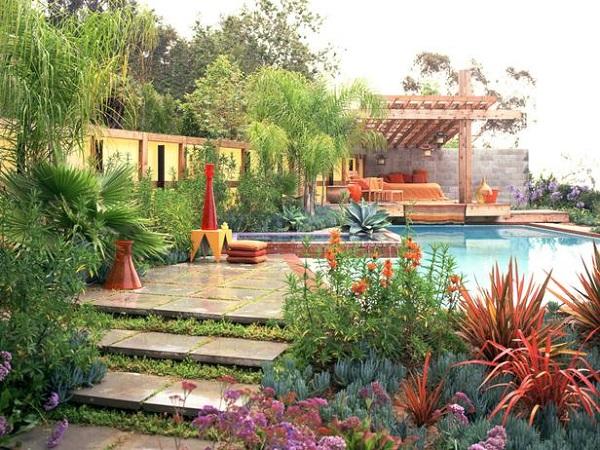 Inspiraci n mediterr nea guia de jardin - Ver jardines de casas ...