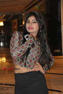 Indian Actress Model Naveena Jackson Latest Po Gallery in Black Mini Skirt  0014.JPG
