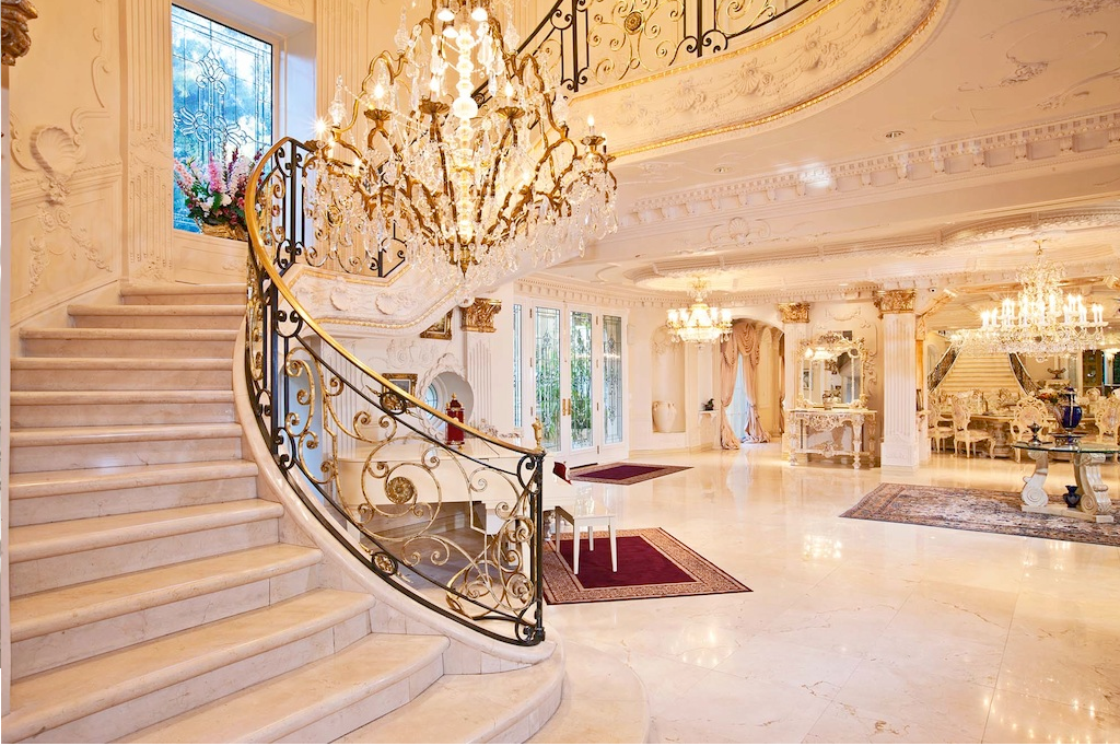 10 contoh Ruang depan mewah & tangga Rumah Luxury ~ Design ...