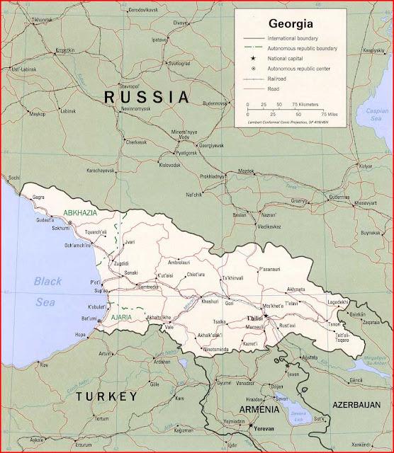 Gambar Peta politik Georgia