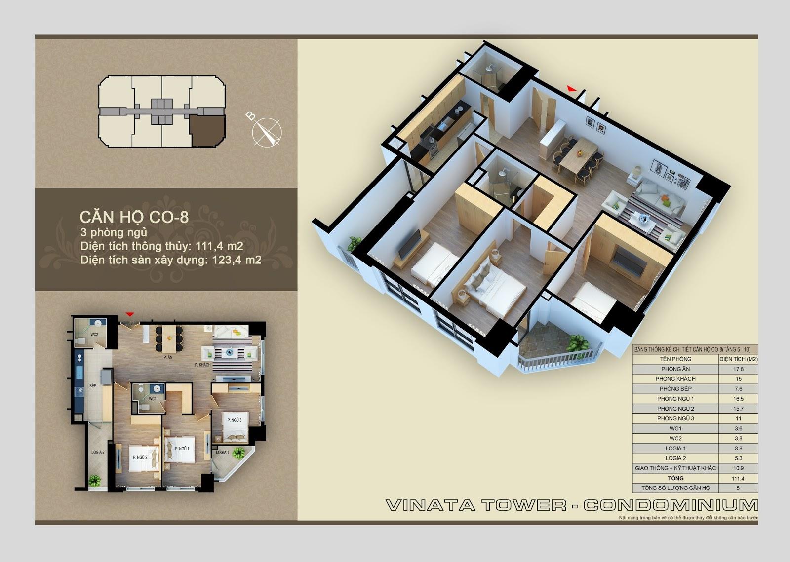 Căn CO-08 dự án Vinata