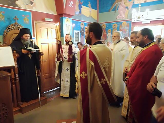 Ο Μητροπολίτης Ιωαννίνων στον πανηγυρίζοντα Ι. Ν Αγίου Παντελεήμονος  Πανεπ.Γενικού  Νοσοκ.Ιωαννίνων