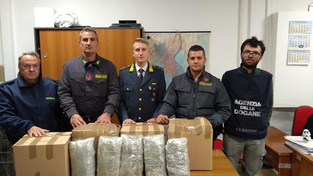 Ανκόνα: Μπλόκο σε 25 κιλά μαριχουάνα από την Ηγουμενίτσα