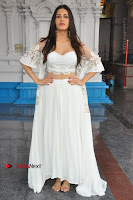 Telugu Actress Amyra Dastur Stills in White Skirt and Blouse at Anandi Indira Production LLP Production no 1 Opening  0077.JPG